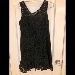 Nanette Lepore Black Eyelet/Lace Dress NWT